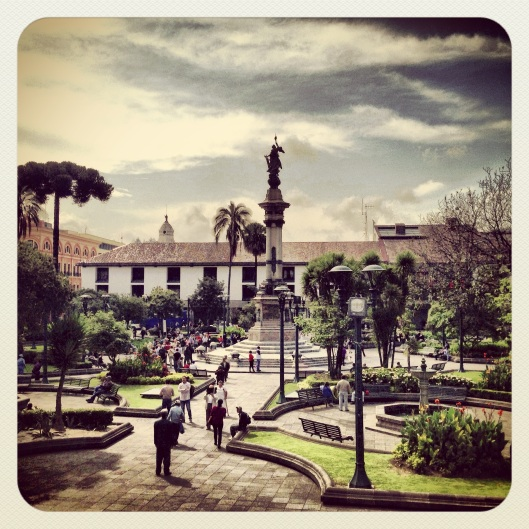 My favorite photo of Quito that I took looks just like an old postcard. (Instagram)