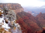 The best way to see Grand Canyon's colors is with a little contrasting snow