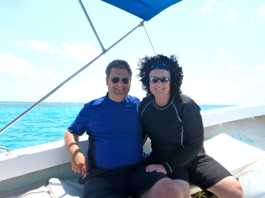 On our dive boat in Belize