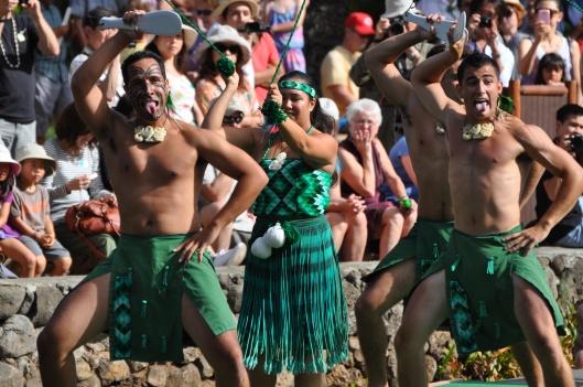 They look fierce, but they still smile. (Aotearoa - New Zealand - Maori)