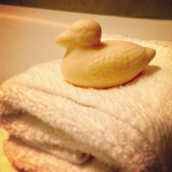 Peabody ducks soap
