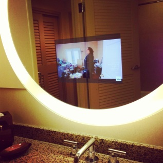 TV in mirror