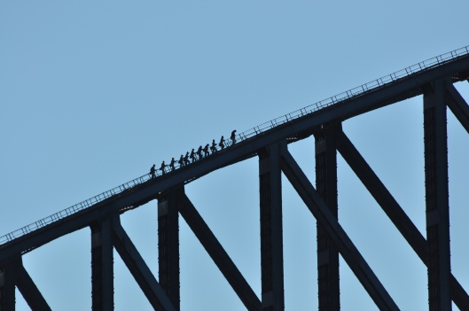 Walking on the Sydney Harbour Bridge