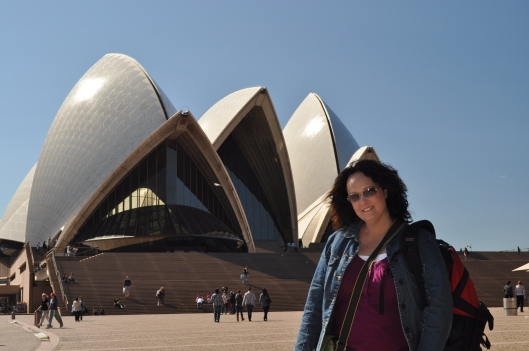 Lisa at the Sydney Opera House