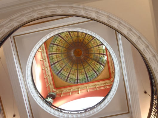 The beautiful glass dome at the Queen Victoria Building. I think I hurt my neck because I was looking up at it so much.