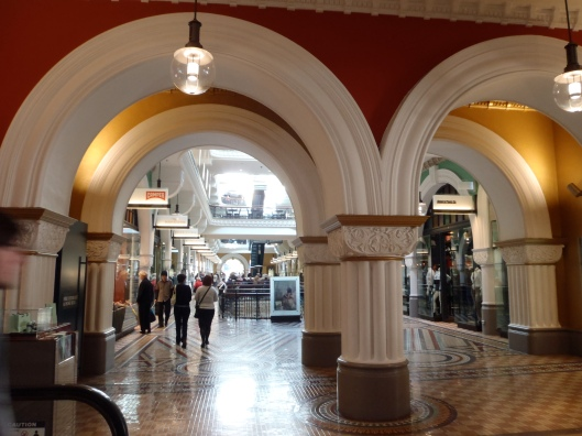 The QVB otally looks like a museum and not a shopping mall.