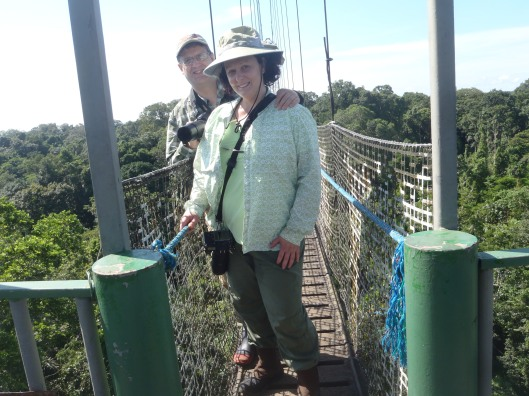 On the canopy walkway at Sacha Lodge