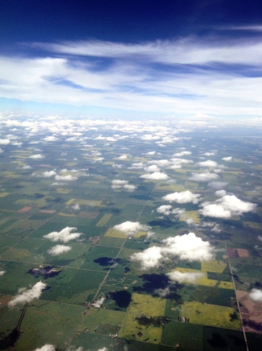 A clear day of Alberta Canada. Not this flight.