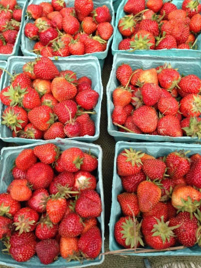 Strawberries at Troy Farmers Market