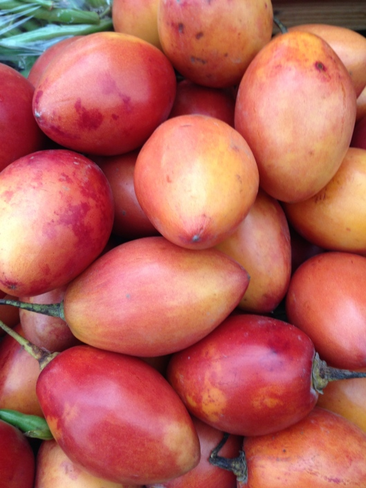 Tree tomatoes in Cuenca market