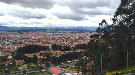 View of Cuenca  from Mirador de Turi
