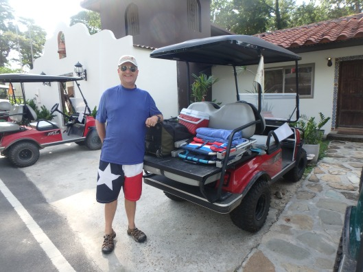 Golf cart Isla Contadora